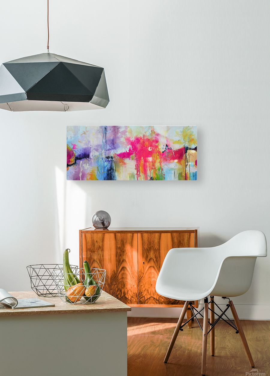 Abstract 32  HD Metal print with Floating Frame on Back