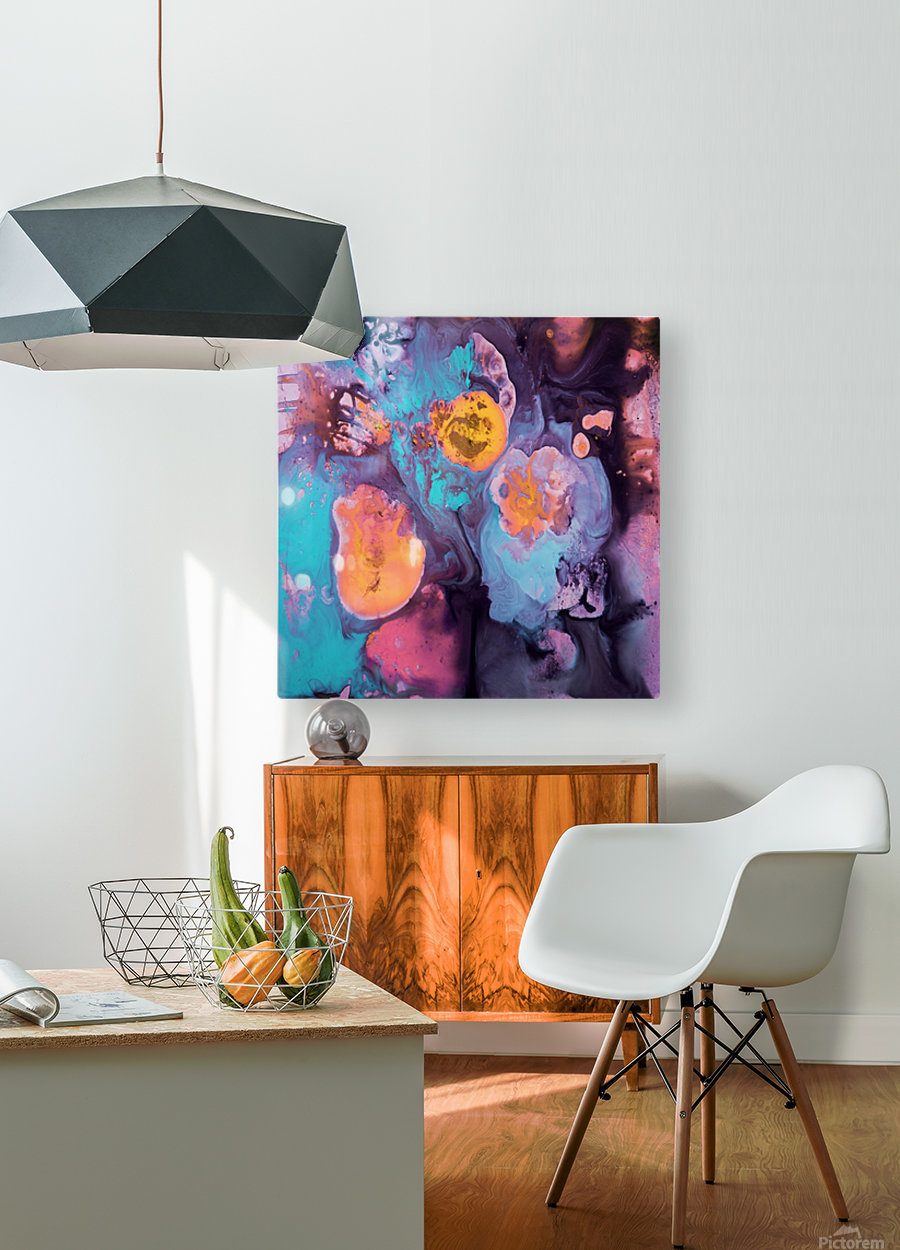 Liquid series 19  HD Metal print with Floating Frame on Back