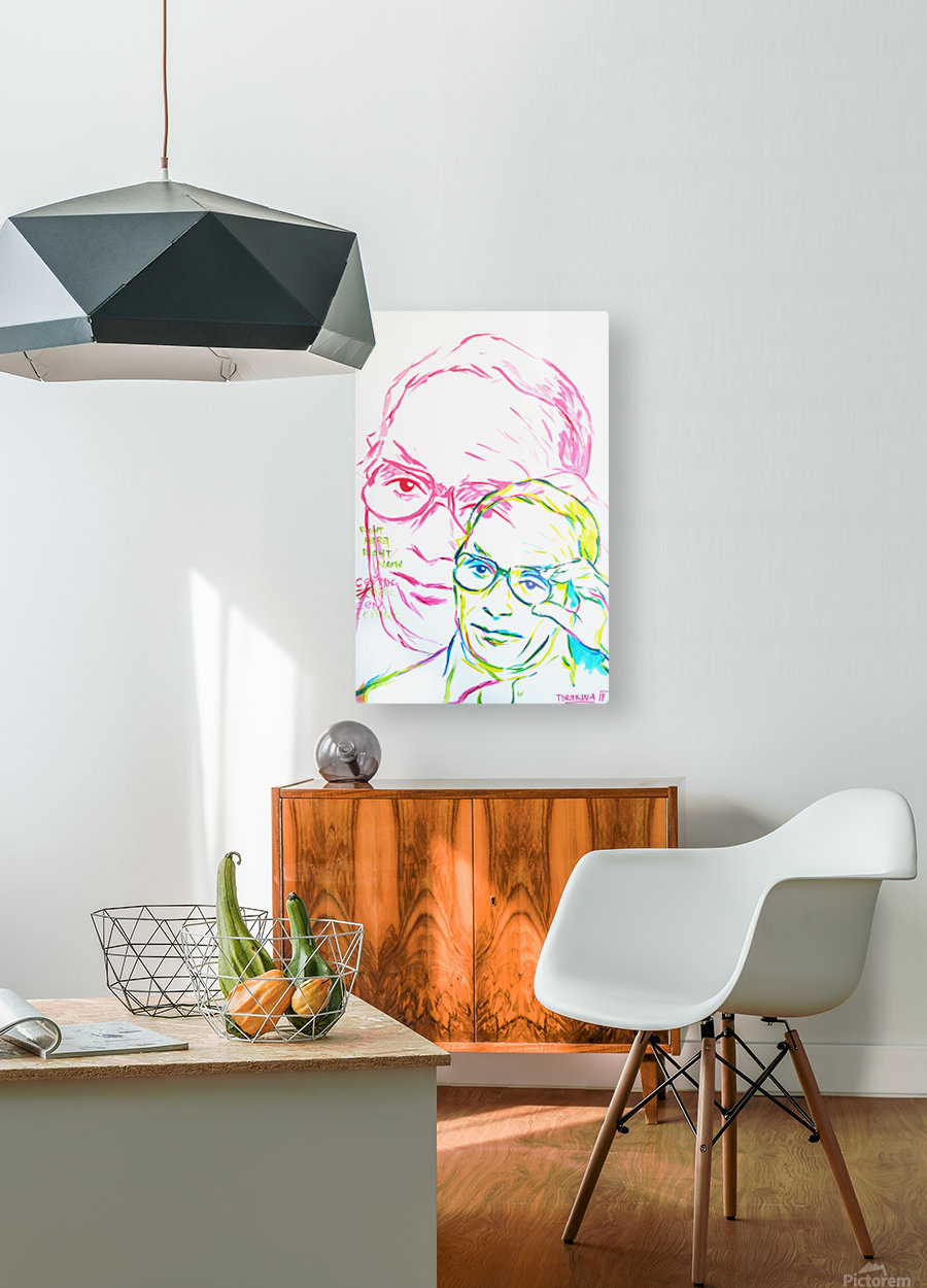 Glasses  HD Metal print with Floating Frame on Back