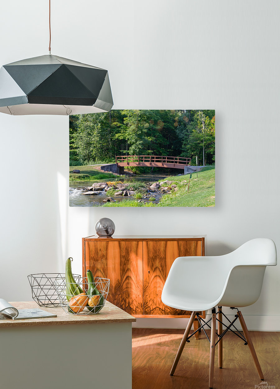 Holley Erie Canal Falls 5  HD Metal print with Floating Frame on Back