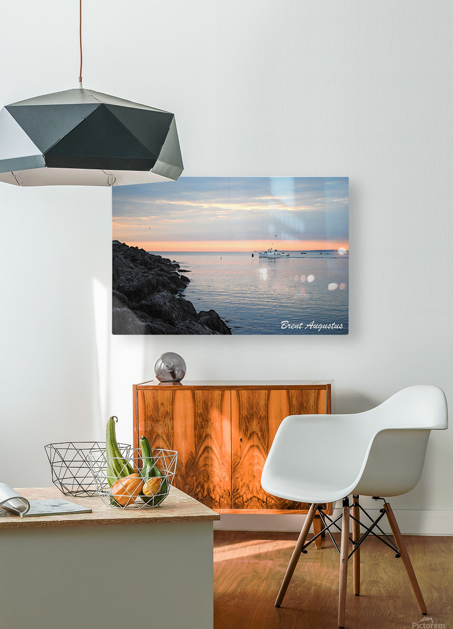 Sunrise Bay  HD Metal print with Floating Frame on Back