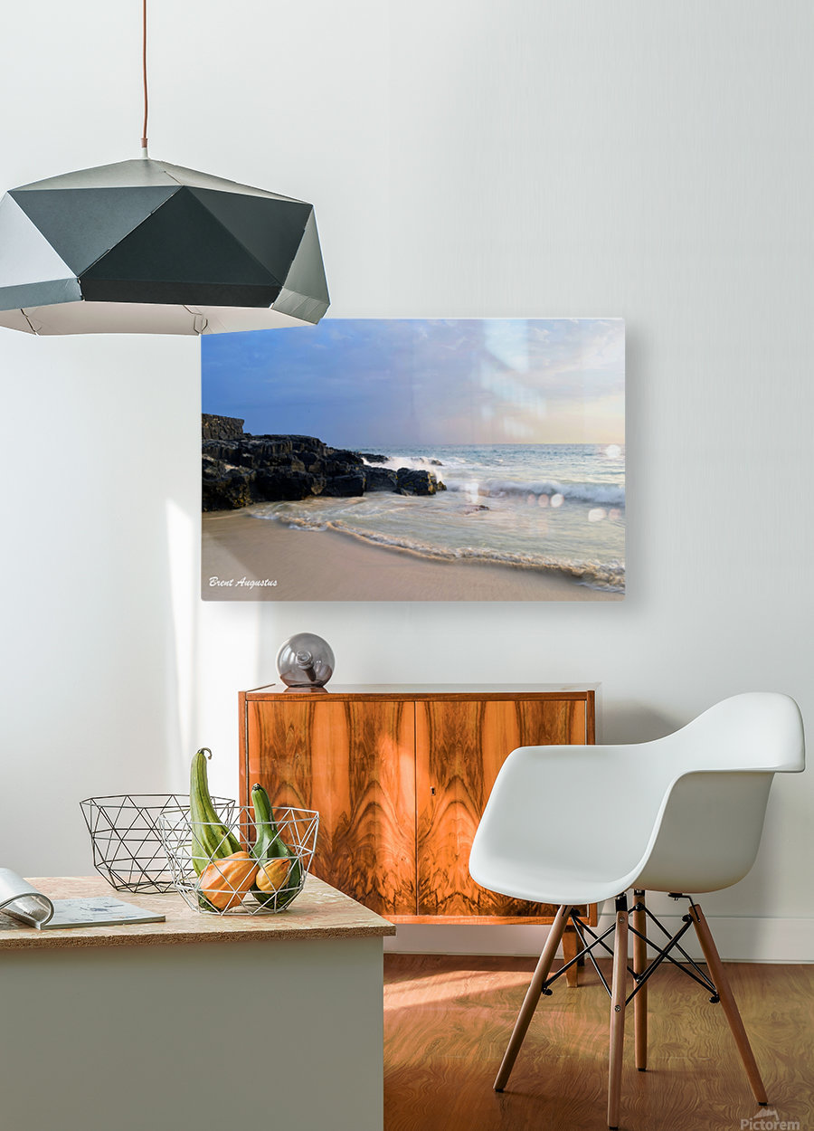 Magic Sands Sunset  HD Metal print with Floating Frame on Back