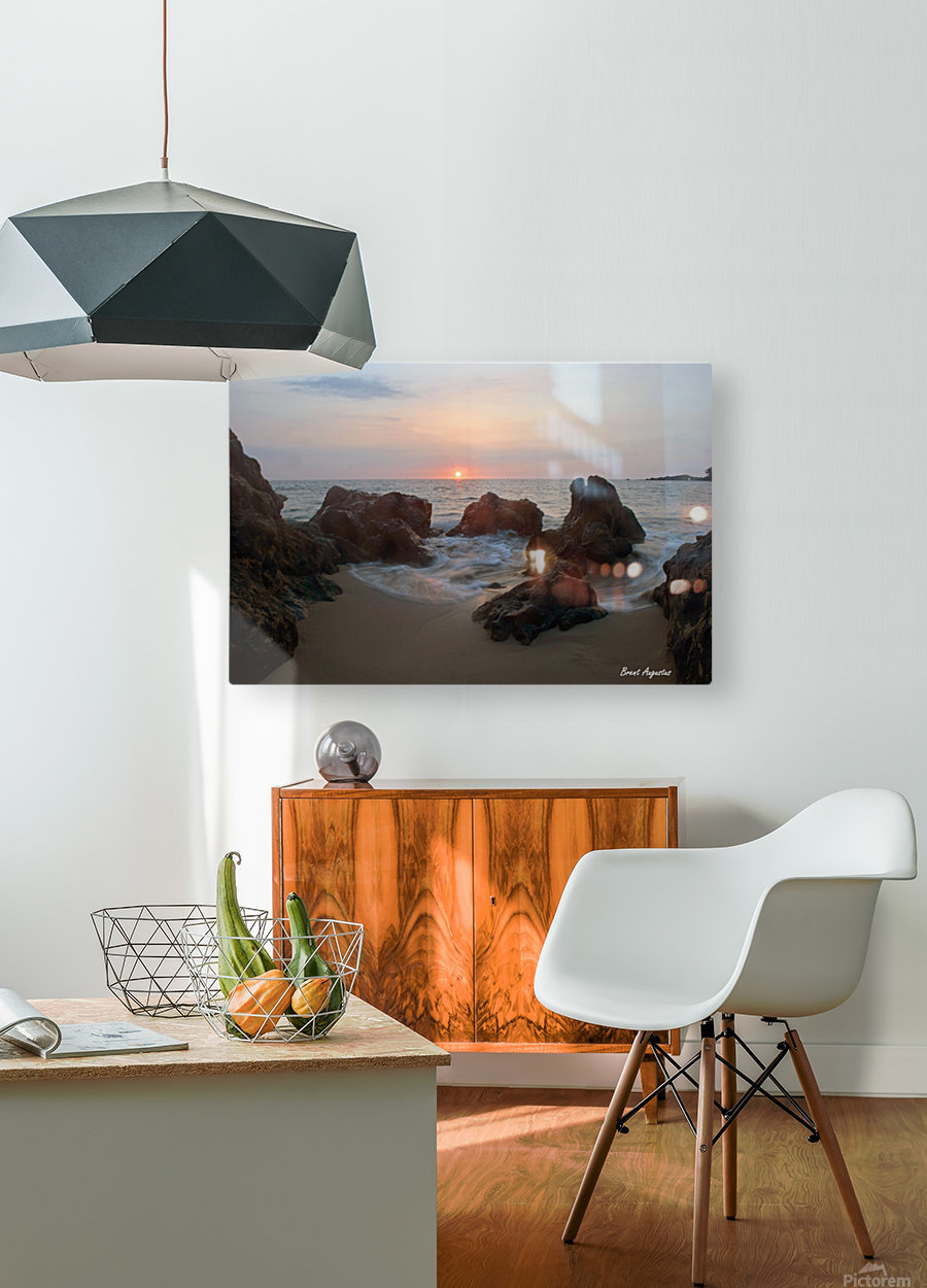 Tide Rolling  HD Metal print with Floating Frame on Back