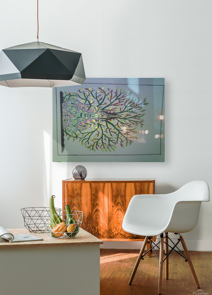 tree with angel art  HD Metal print with Floating Frame on Back