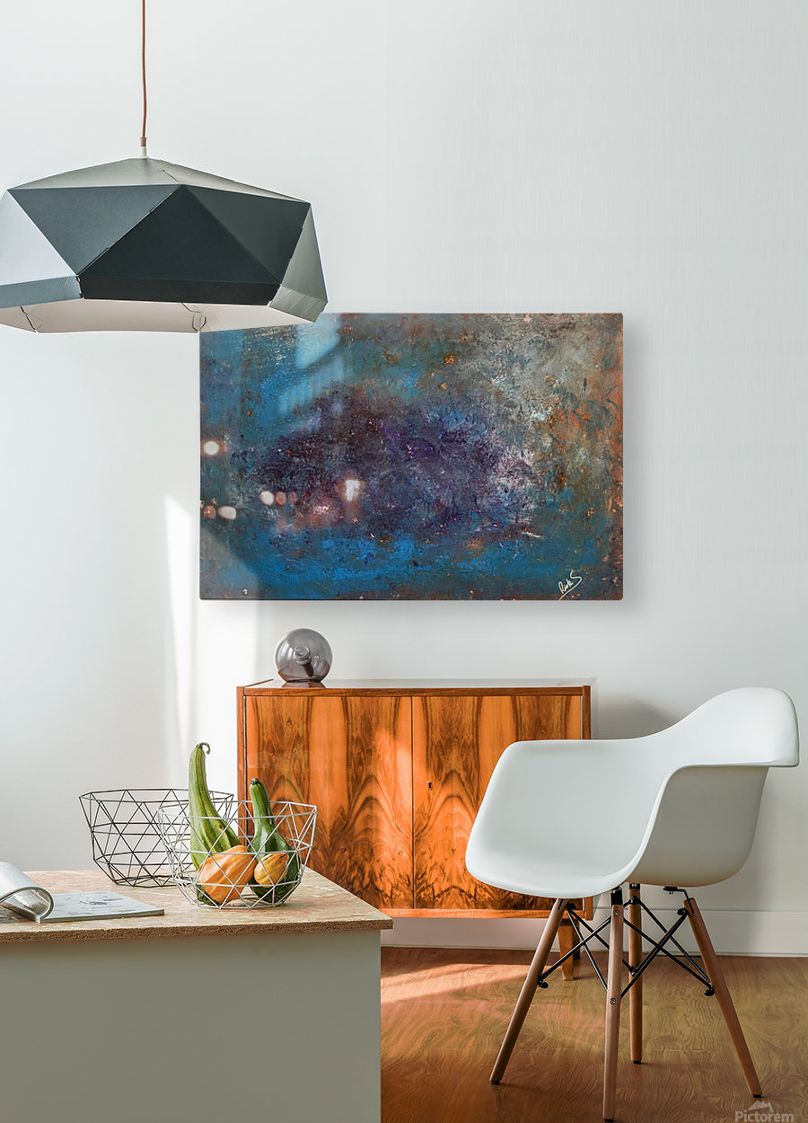 GALAXY  HD Metal print with Floating Frame on Back