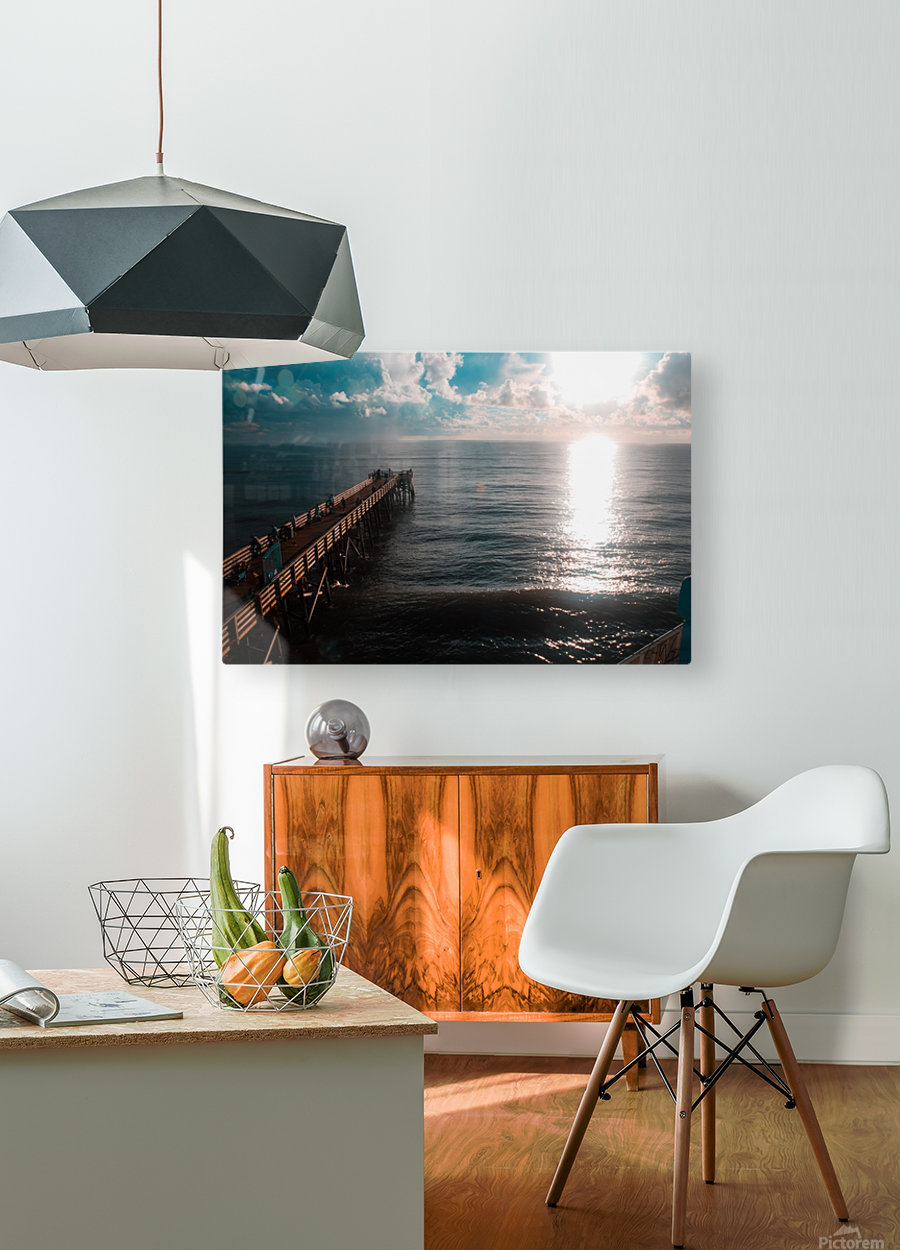 Blue majestic  HD Metal print with Floating Frame on Back