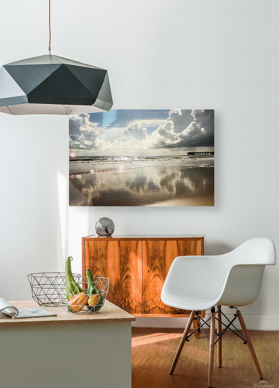 Golden Eye  HD Metal print with Floating Frame on Back