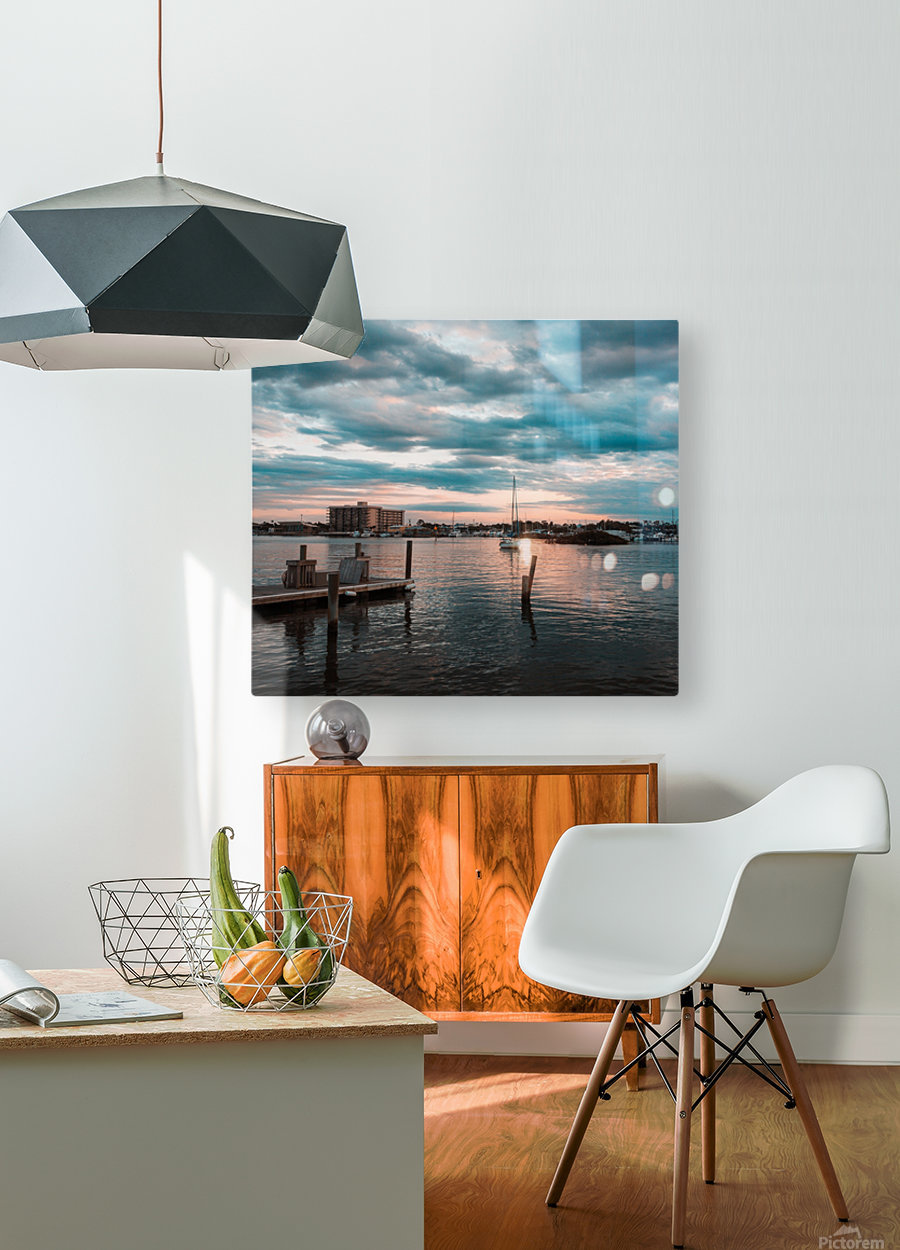 Blue Summer  HD Metal print with Floating Frame on Back