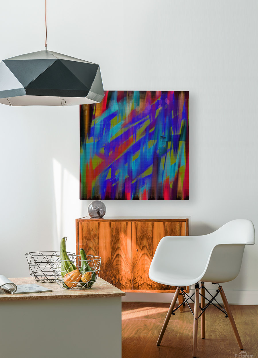 Abstract Me  HD Metal print with Floating Frame on Back