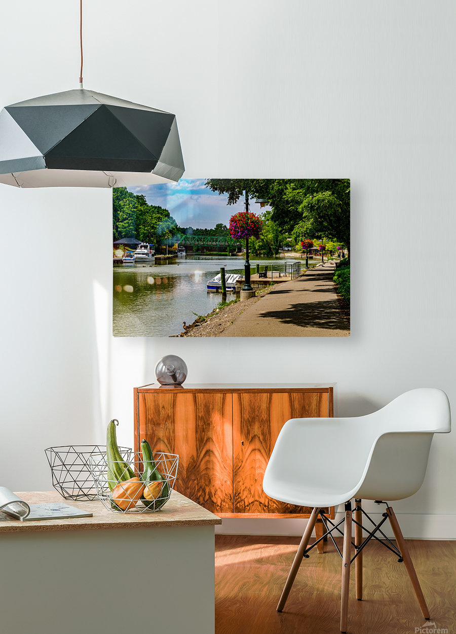 Erie Canal Vacation  HD Metal print with Floating Frame on Back