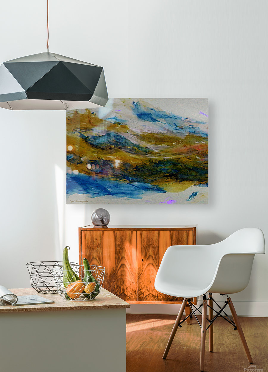 Amber River  HD Metal print with Floating Frame on Back
