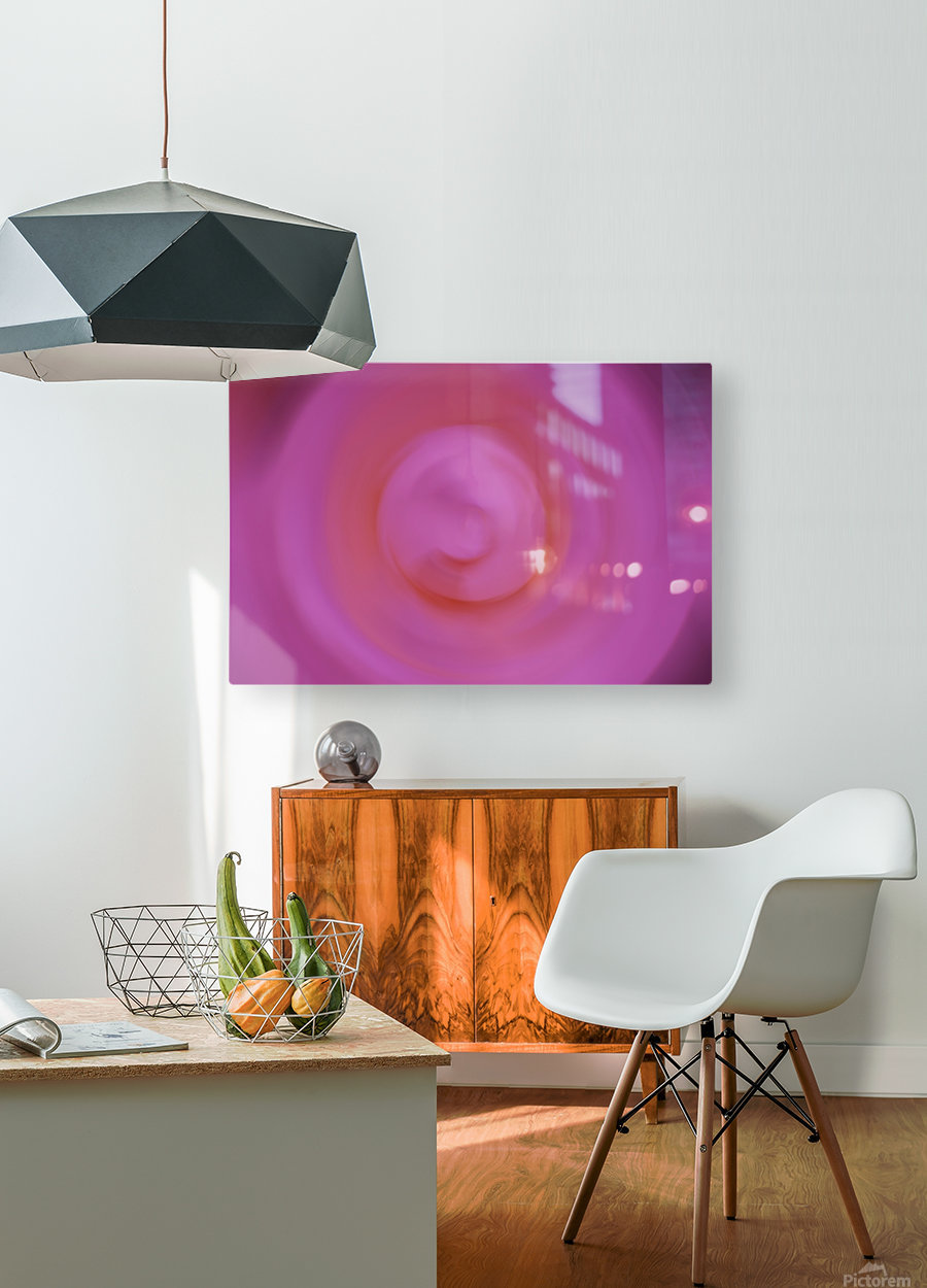 Abstract Floral Photograph - Pinkswirl  HD Metal print with Floating Frame on Back