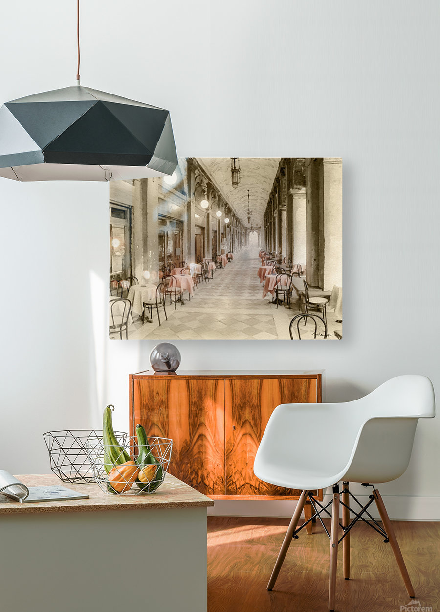 Café Place Saint-Marc Venise  HD Metal print with Floating Frame on Back