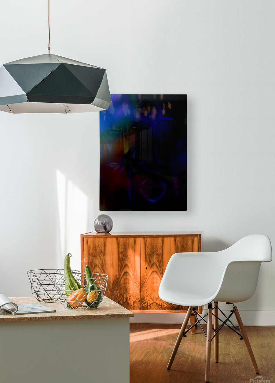 New face  HD Metal print with Floating Frame on Back