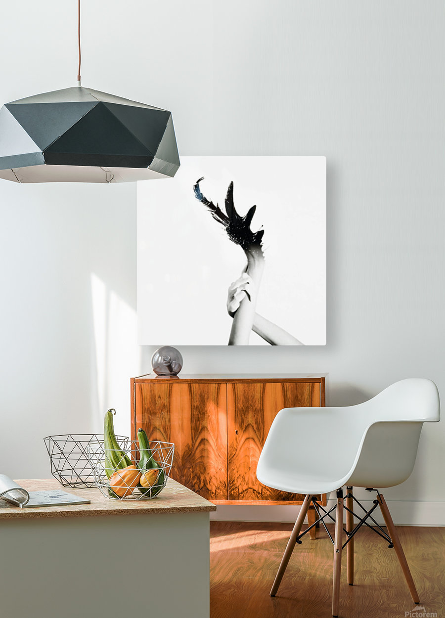 Morphing Ink  HD Metal print with Floating Frame on Back
