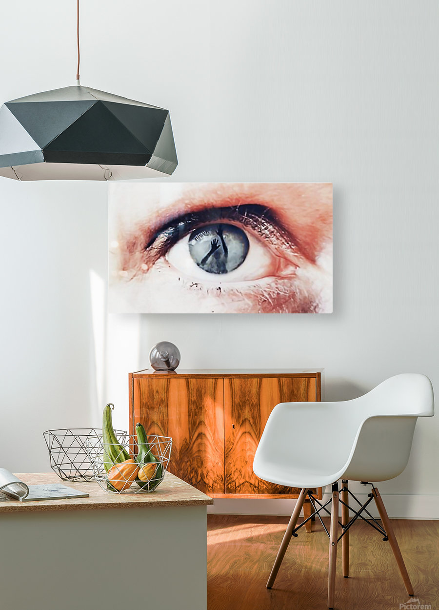 Trapped  HD Metal print with Floating Frame on Back