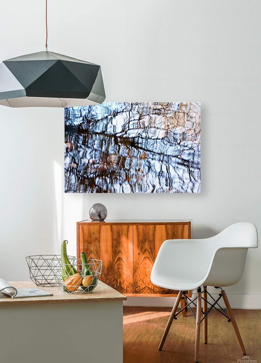 Searching For Spring  HD Metal print with Floating Frame on Back