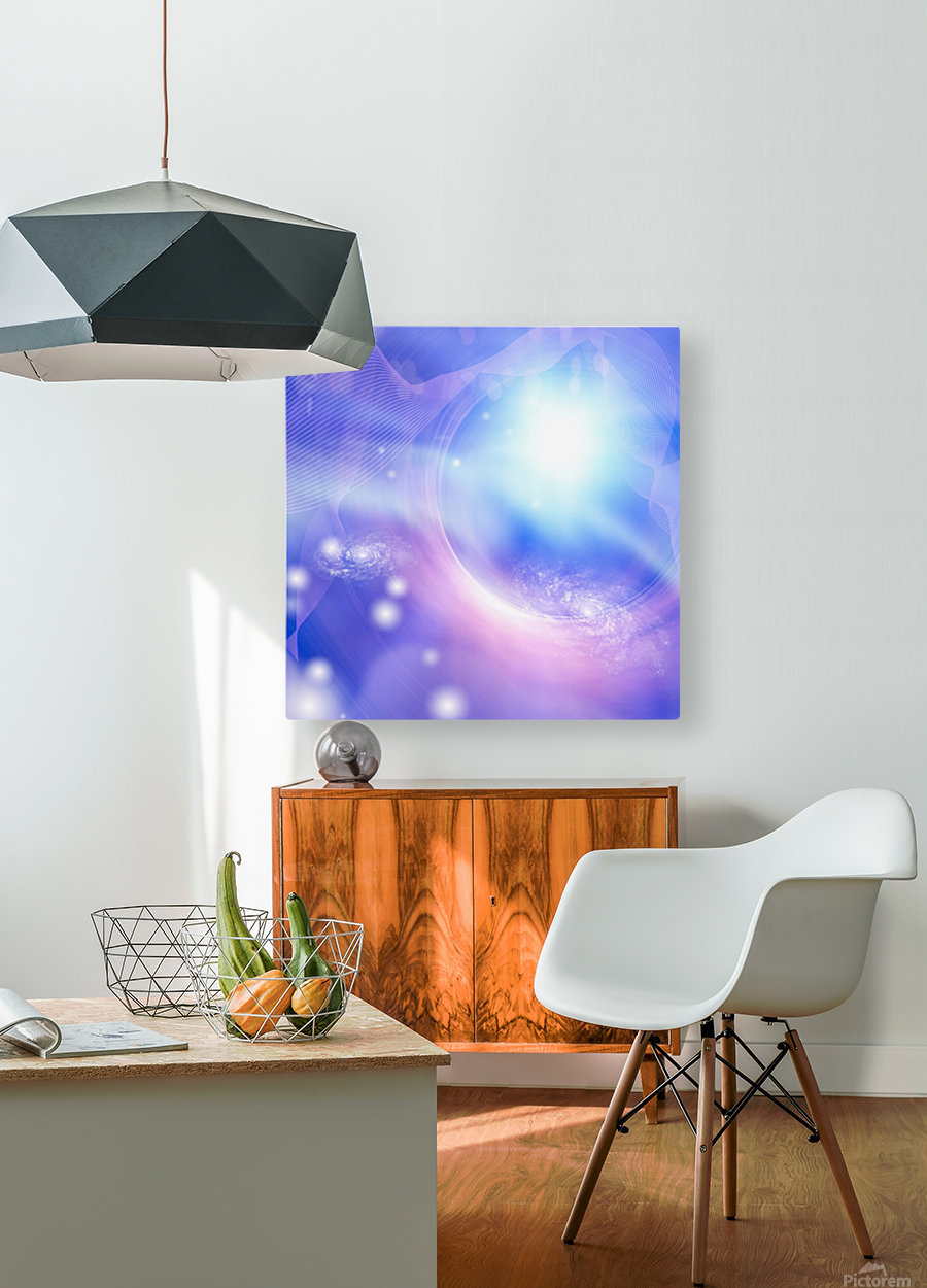 Galaxies  HD Metal print with Floating Frame on Back