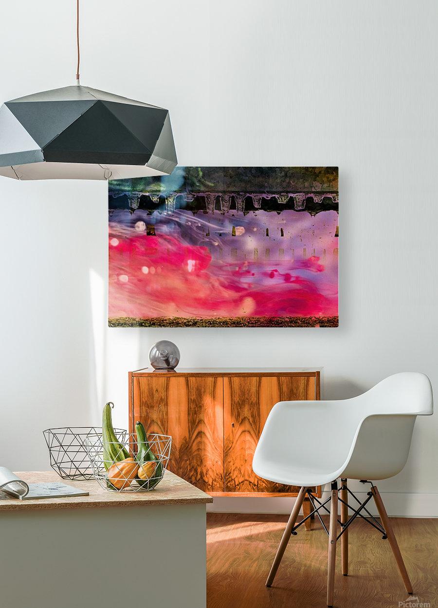 Abstraction   Impression métal HD avec cadre flottant sur le dos