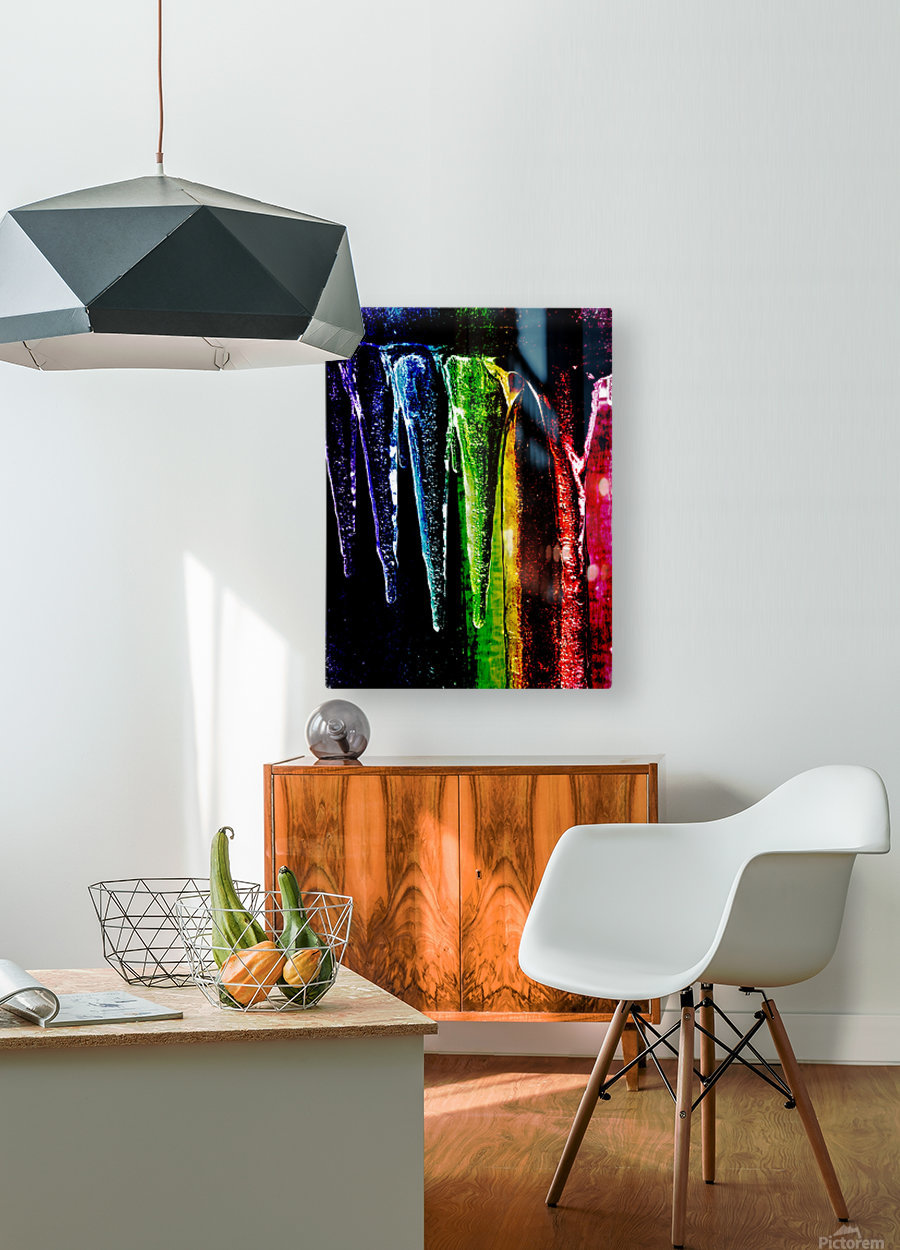 Chakra happy   HD Metal print with Floating Frame on Back