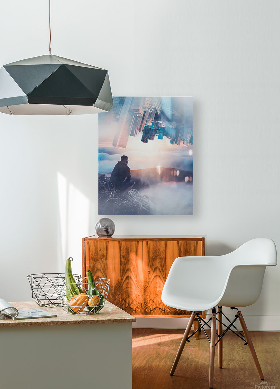 City Bound  HD Metal print with Floating Frame on Back