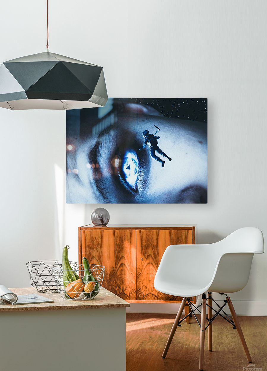 Lost In Your Eyes  HD Metal print with Floating Frame on Back