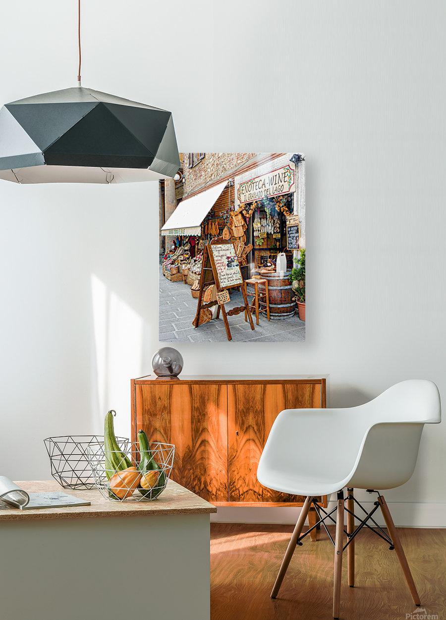 Delicatessens Castiglione del Lago  HD Metal print with Floating Frame on Back