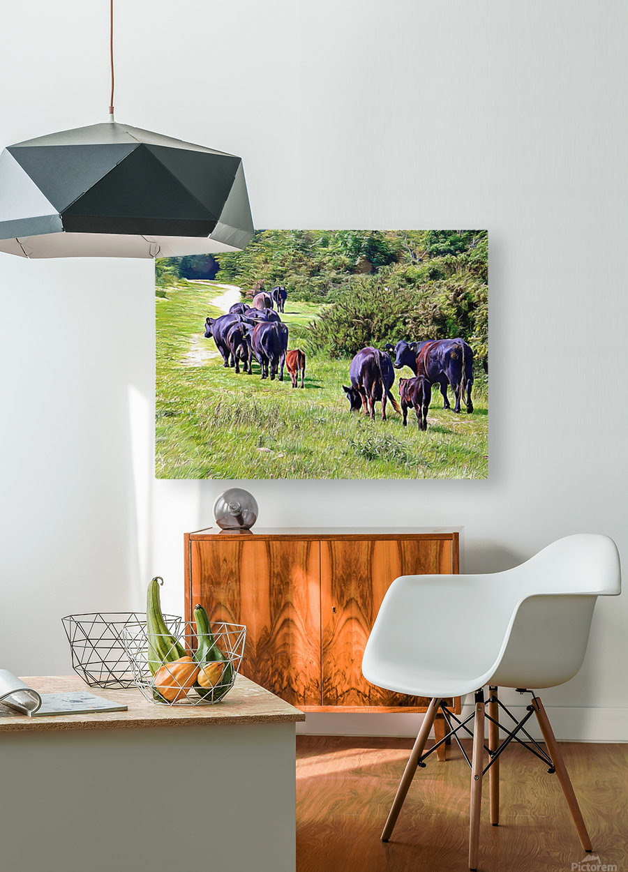 The Long Walk Home  HD Metal print with Floating Frame on Back