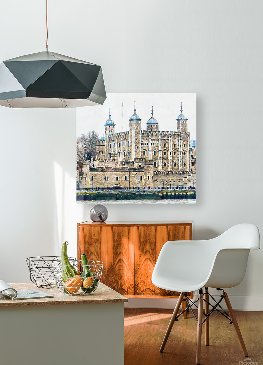 Tower of London 2  HD Metal print with Floating Frame on Back