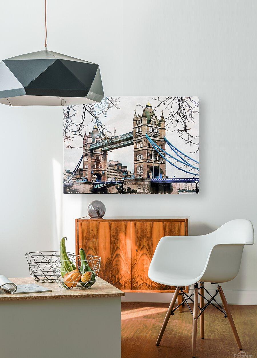 Tower Bridge London  HD Metal print with Floating Frame on Back