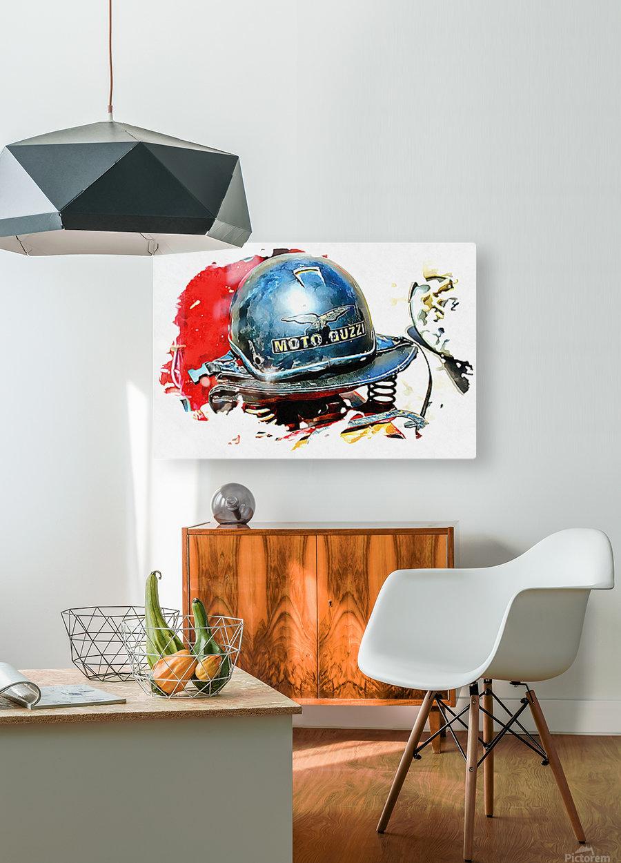 Moto Guzzi  HD Metal print with Floating Frame on Back