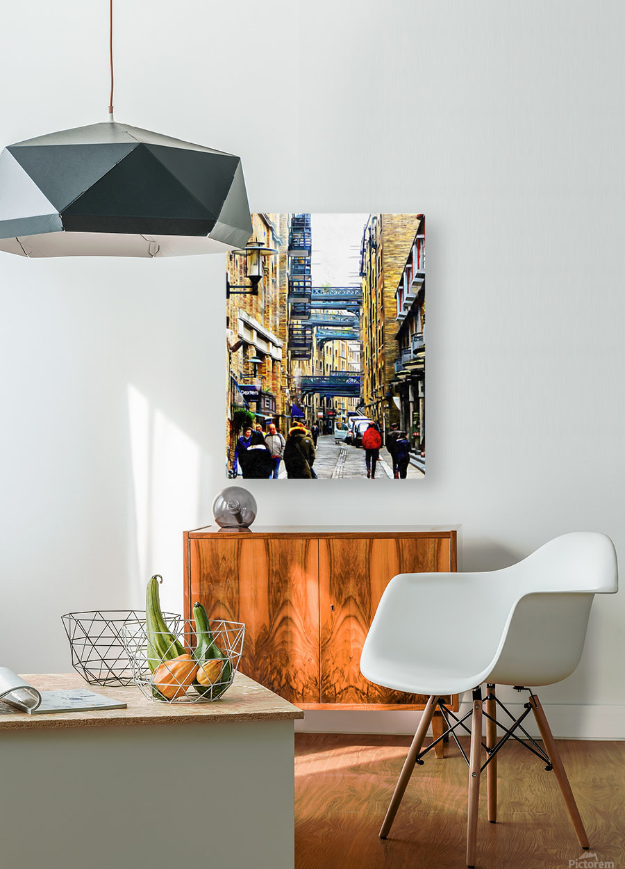 Shad Thames Street View  HD Metal print with Floating Frame on Back