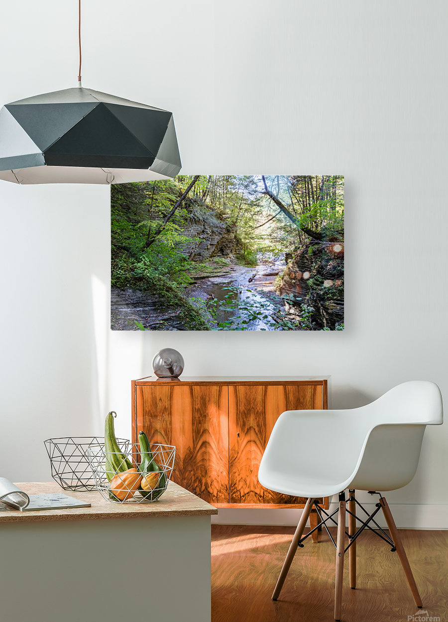 Eagle Cliff Falls 19  HD Metal print with Floating Frame on Back