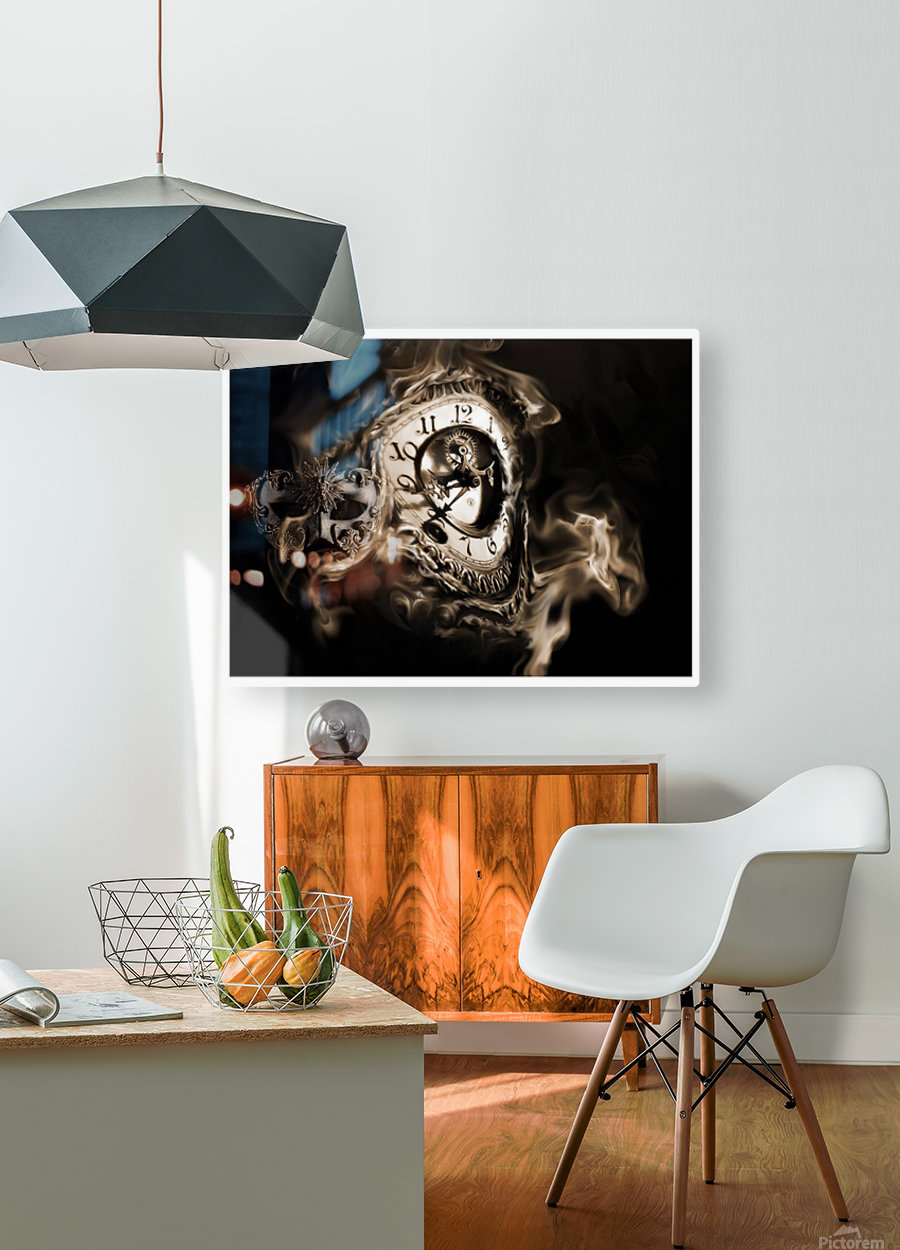 Father Time  HD Metal print with Floating Frame on Back