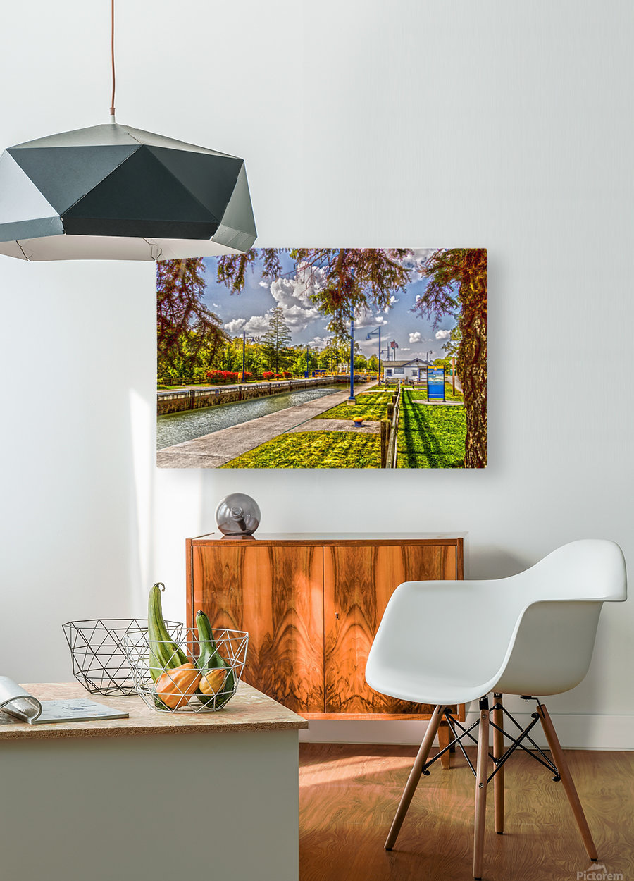 Lock 33 Park  HD Metal print with Floating Frame on Back