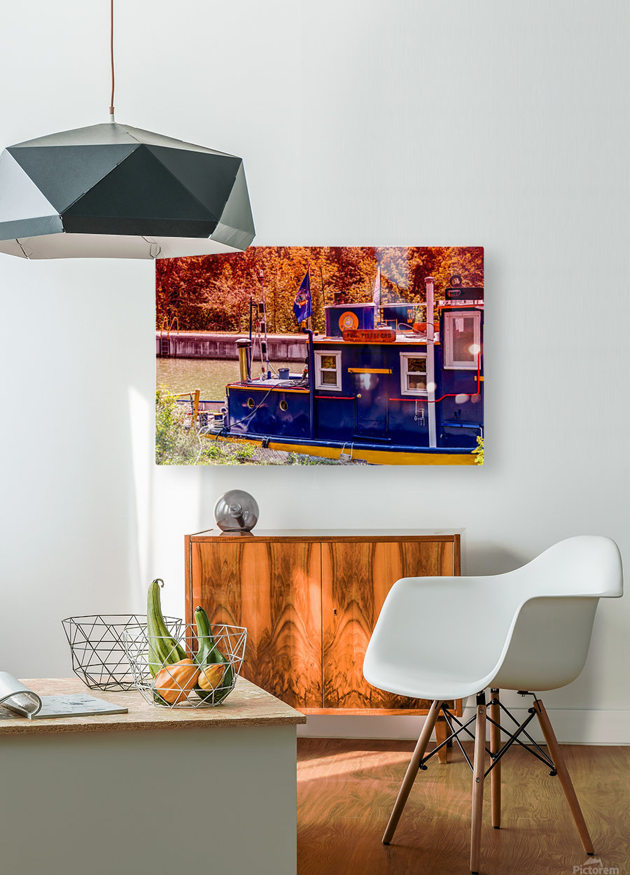 Lock 33 5  HD Metal print with Floating Frame on Back