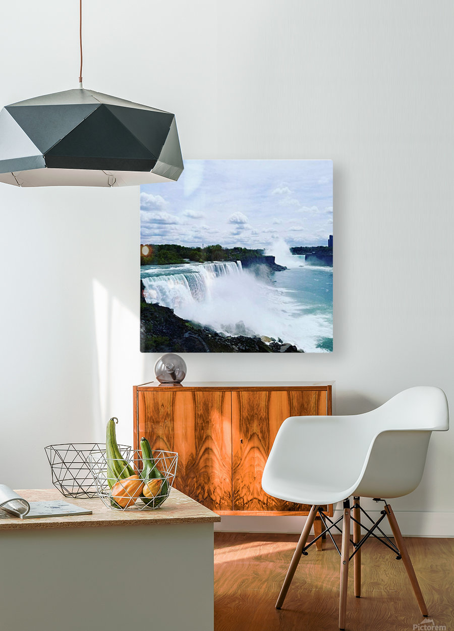 Niagara  HD Metal print with Floating Frame on Back