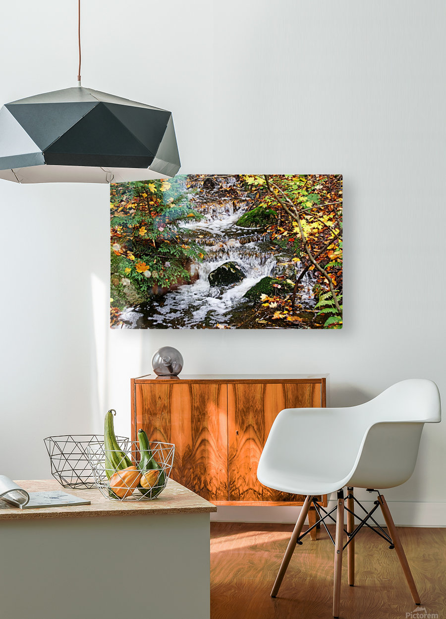 Autumn Flow  HD Metal print with Floating Frame on Back