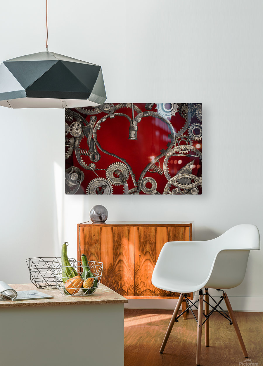 Mechanical Love  HD Metal print with Floating Frame on Back