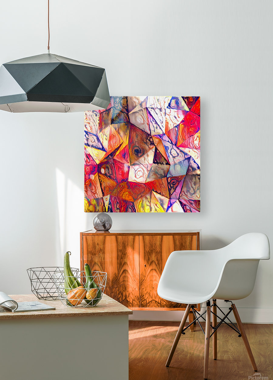 Modern Digital Abstract Painting  HD Metal print with Floating Frame on Back