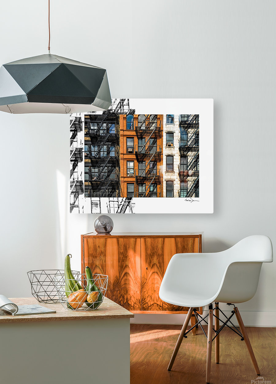 New York - SoHo   HD Metal print with Floating Frame on Back