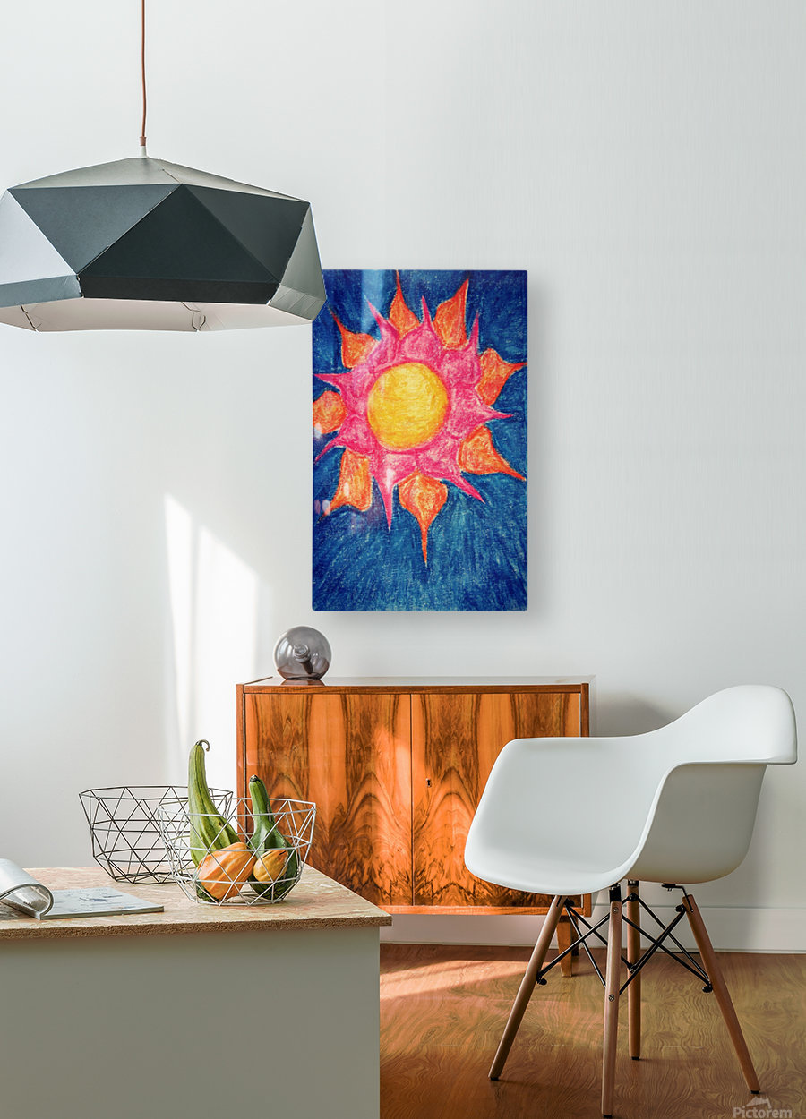 Sun Shiny Day  HD Metal print with Floating Frame on Back