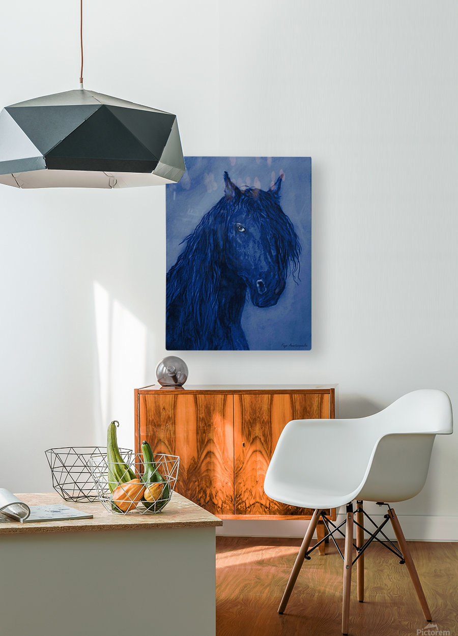 Blue Heart  HD Metal print with Floating Frame on Back