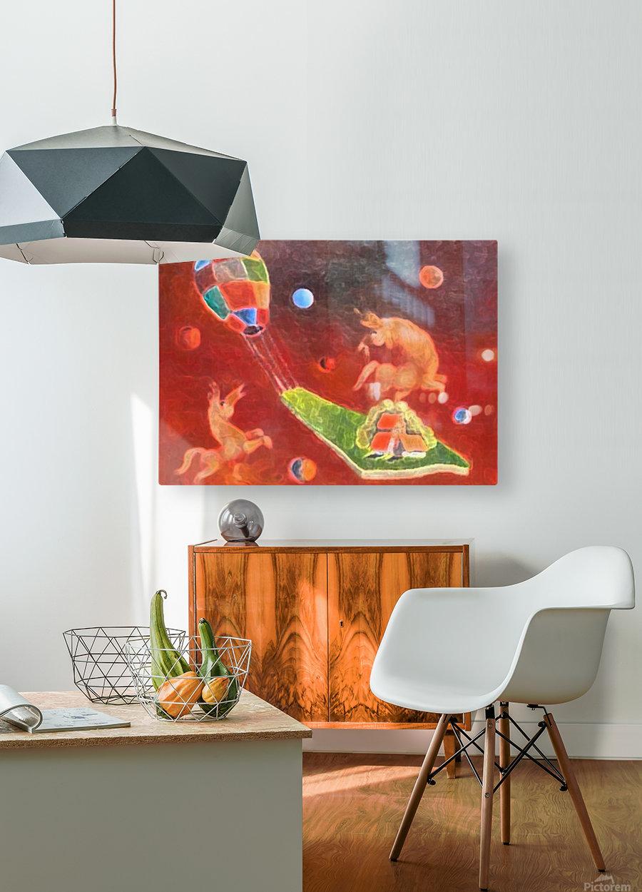 Fantastic Village  HD Metal print with Floating Frame on Back