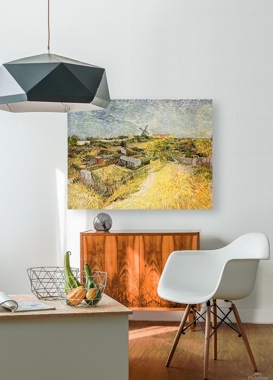 Vegetable Gardens in Montmartre by Van Gogh  HD Metal print with Floating Frame on Back