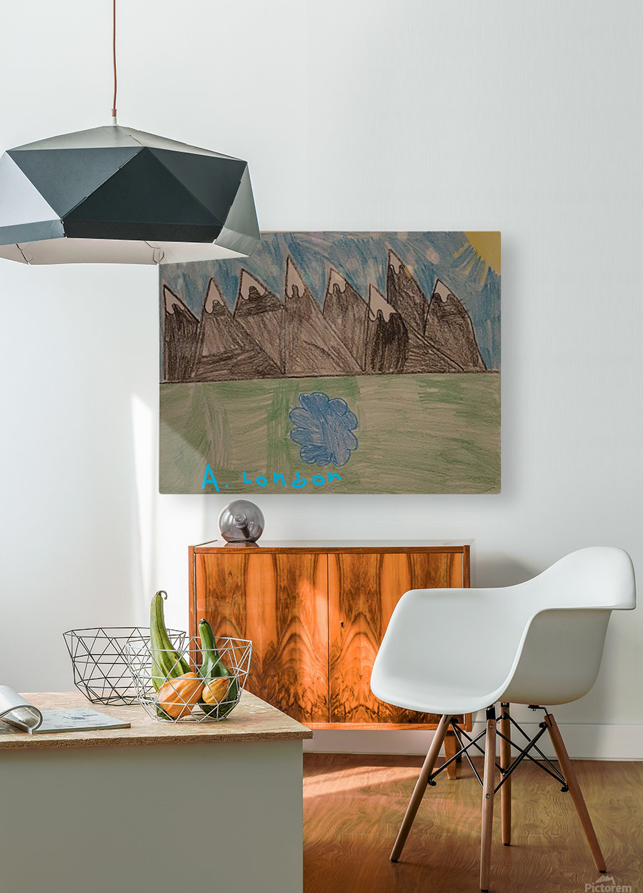 Mountain Peak  HD Metal print with Floating Frame on Back