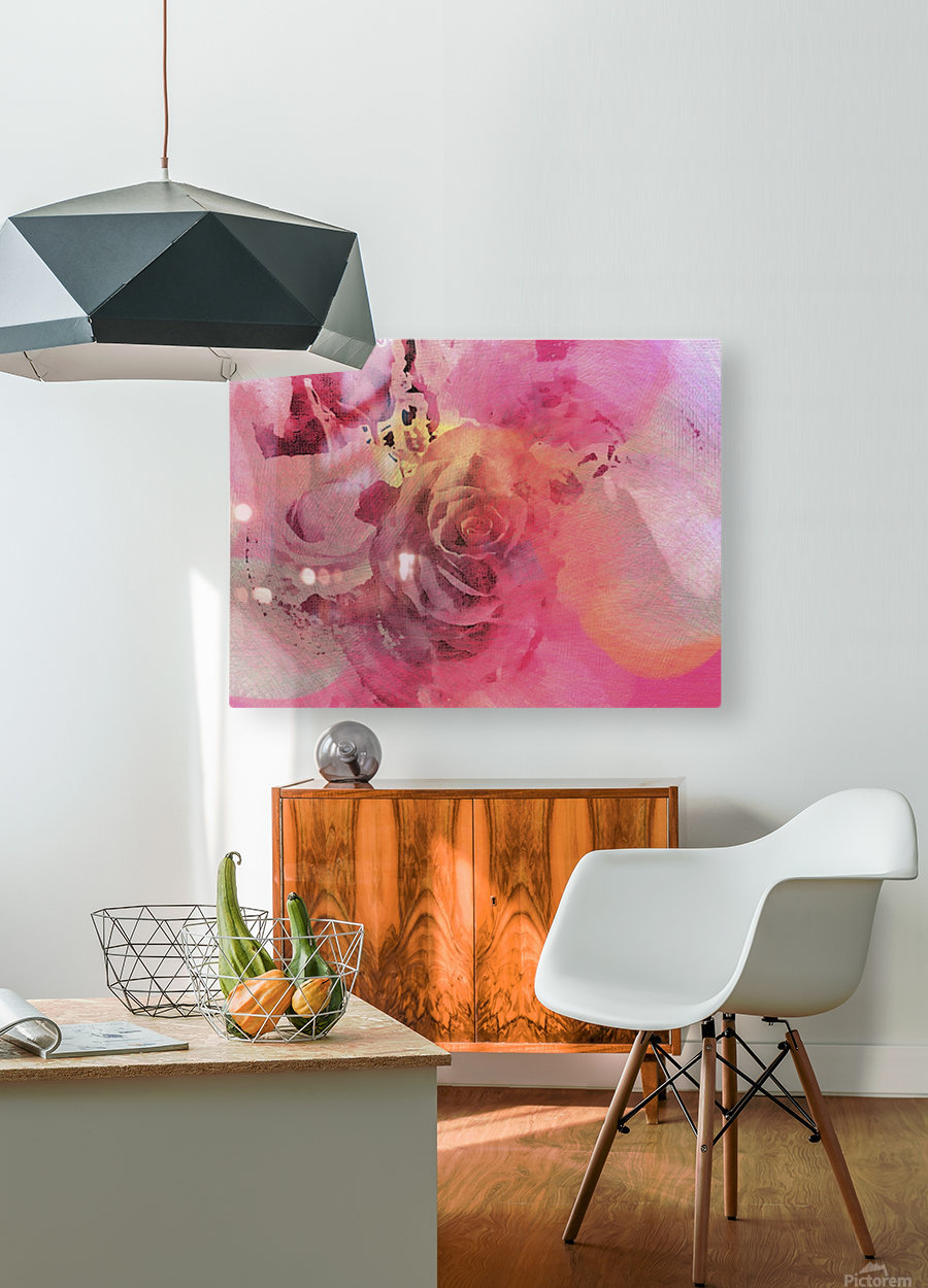 June Rose  HD Metal print with Floating Frame on Back