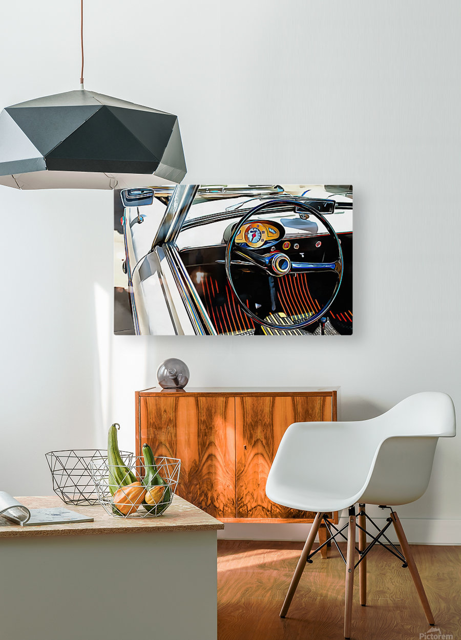 Autobianchi Bianchina Through The Window  HD Metal print with Floating Frame on Back