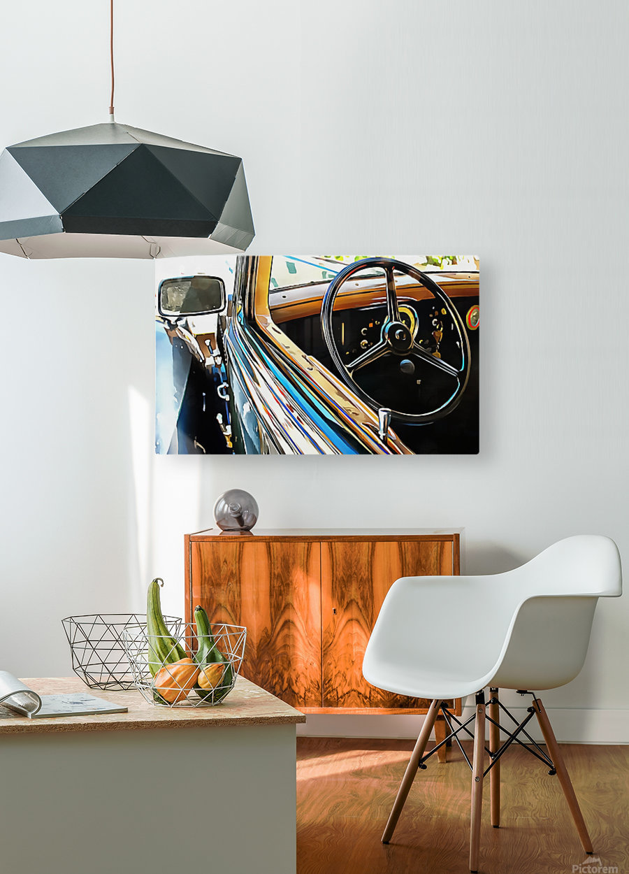 Fiat 508 Balila Through the Window  HD Metal print with Floating Frame on Back