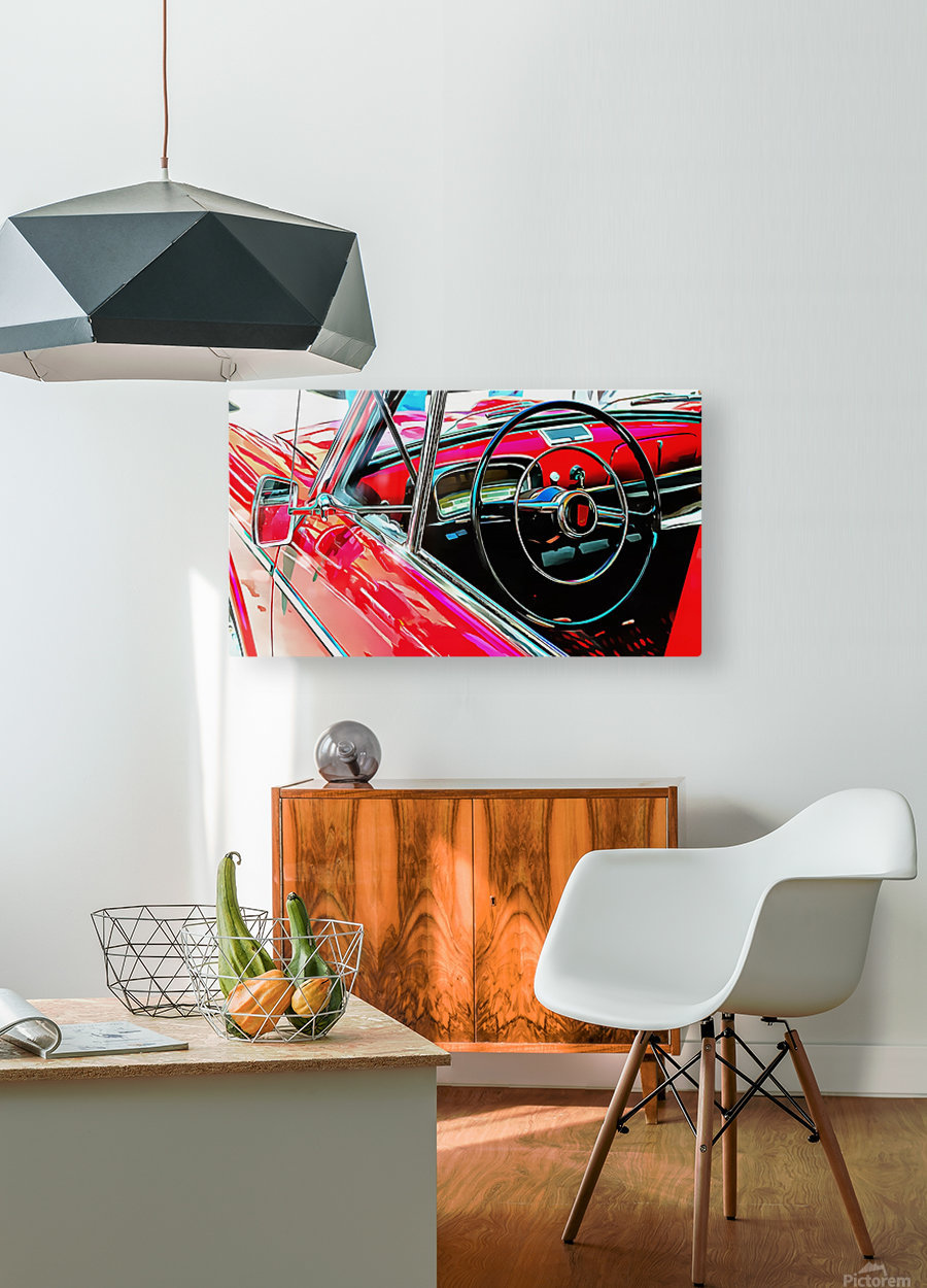 Fiat 1100 D Through The Window  HD Metal print with Floating Frame on Back